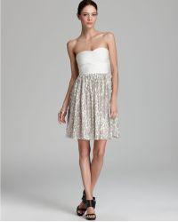 Erin Erin Fetherston Dress Strapless Sequin Bandage - Lyst