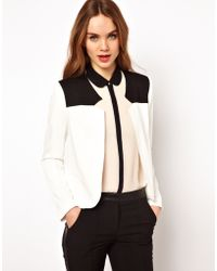 French Connection Contrast Yoke Tailored Jacket - Black
