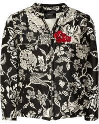 Isabel Marant Malky Embroidered Silk-poplin Bomber Jacket - Lyst