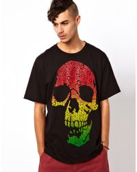 KR3W Tshirt Bracket Skull Print - Multicolor