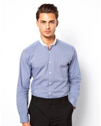 Lambretta - Shirt with Contrast Collar - Lyst