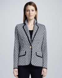 Misook Collection - Camille Geometric Knit Jacket - Lyst