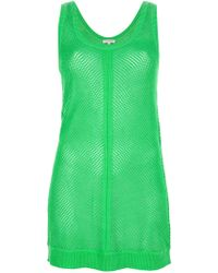 P.A.R.O.S.H. Netted Vest green - Lyst