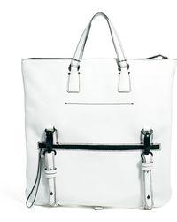 ASOS - Asos Premium Leather Tote Bag - Lyst