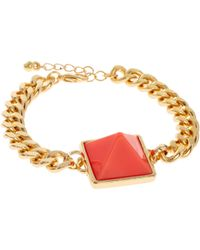 ASOS - Chain Link Pyramid Bracelet - Lyst