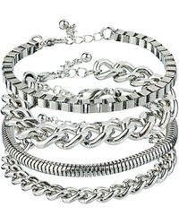 ASOS - Asos Pack Of Four Chain Bracelets - Lyst