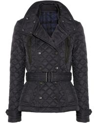 Burberry Brit - Hooded Quilted Shell Jacket - Lyst