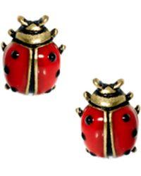 Cath Kidston - Ladybird Enamel Earrings - Lyst