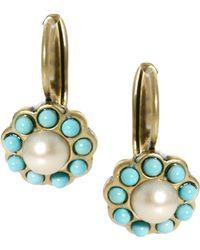 Cath Kidston - Daisy Pearl Earrings - Lyst