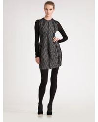 Donna Karan New York Zipfront Cardigan Dress - Lyst