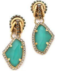 Erickson Beamon Garden Party Earrings - Metallic