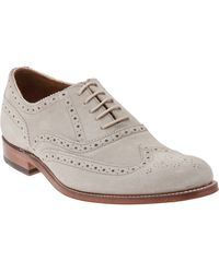 Foot The Coacher - Perforated Suede Brogues - Lyst