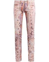 Isabel Marant Jalyne Printed Mid-rise Skinny Jeans - Lyst