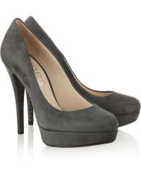 Kors by Michael Kors Cyprien Suede Court Shoes - Gray