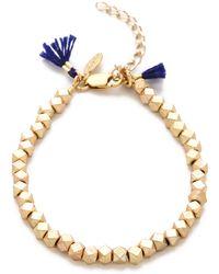 Shashi Nugget Clasp Bracelet - Yellow Gold - Lyst