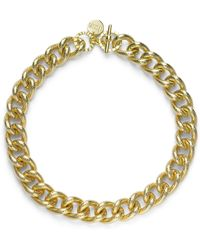 1AR By Unoaerre - Textured Twisted Link Necklace - Lyst