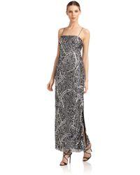 Aidan Mattox Embellished Evening Gown - Lyst