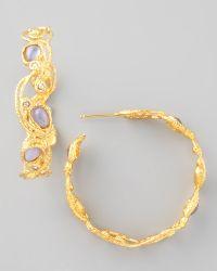 Alexis Bittar Mauritius Golden Lace Hoop Earrings - Lyst