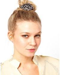 ASOS Limited Edition Jewel Hair Brooch - Grey