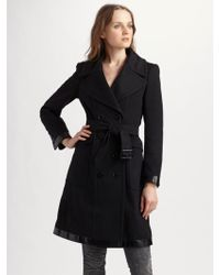 Burberry Double breasted Wool cashmere Coat - Lyst