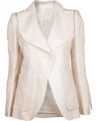 Carven Panama Jacket - White