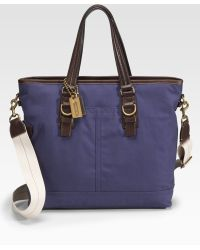 Coach Hamptons Canvas Tote - Lyst
