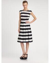 Dolce & Gabbana Striped Dress - Lyst