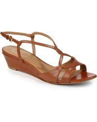 Elie Tahari Raven Wedge Sandals - Brown