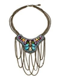 Joanna Laura Constantine - Crystalaccented Chain Bib Necklace - Lyst