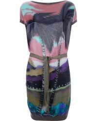 Lanvin Printed Dress multicolor - Lyst