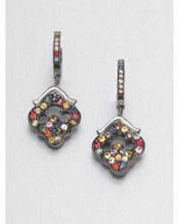 M.c.l  Matthew Campbell Laurenza - Multicolored Sapphire Sterling Silver Earrings - Lyst