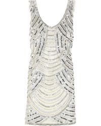Notte by Marchesa Embellished Silk Dress - Lyst