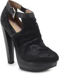 Plomo Julieta Haircalf Cutout Ankle Boots - Lyst