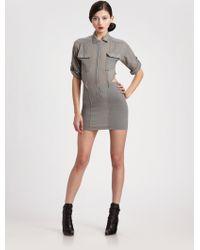 Seneca Rising - Cutout Shirt Dress - Lyst