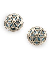 Slane - Fenestra Blue Topaz Earrings - Lyst