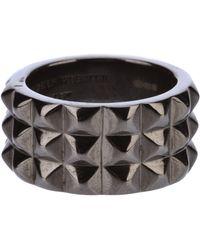 Stephen Webster Rhodium Silver Stud Ring - Lyst
