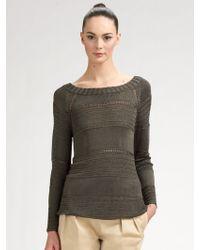 Z Spoke by Zac Posen Crocheted Sweater - Green