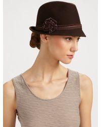 Armani - Classic Rose Felt Hat - Lyst