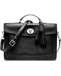 COACH Legacy Archival Slim Briefcase - Black