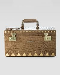Eddie Borgo - Crocodile Embossed Jewelry Box Brown - Lyst