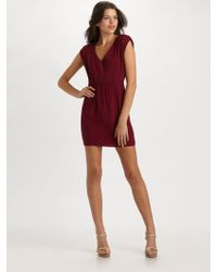 Geren Ford Pleated Silk Dress - Lyst
