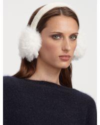 Juicy Couture Faux Fur Earmuffs - White