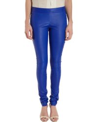 Les Chiffoniers - Stretch Leather Leggings - Lyst