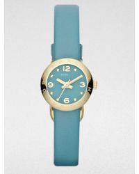 Marc By Marc Jacobs Goldtone Stainless Steel Leather Watchteal - Lyst
