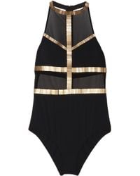 Sass & Bide - Off The Cuff Embellished Mesh Bodysuit - Lyst