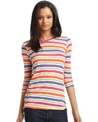 Torn Meredith Striped Tee - Multicolor