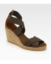 Tory Burch Adonis Canvas Espadrille Wedges - Lyst