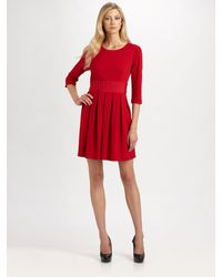 Kay Unger Pleated Dress - Lyst