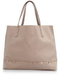 Mango - Studded Shopper Bag - Lyst