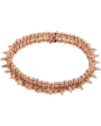 Philippe Audibert Amelia Spike Bracelet gold - Lyst